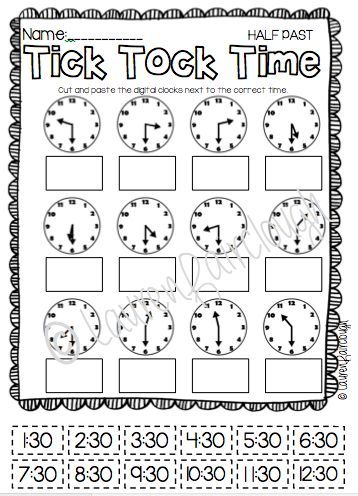 Telling Time Games and Worksheets | Juegos de matemáticas ...