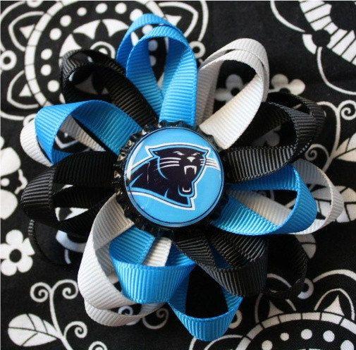 Carolina Panthers baby gift Carolina Panthers baby bows Carolina Panthers Hair Clips football hair clips Carolina Panthers fan