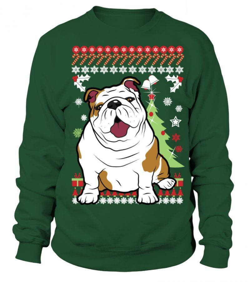 I Just Want All The Dogs T Shirt English Bulldog Christmas Sweater