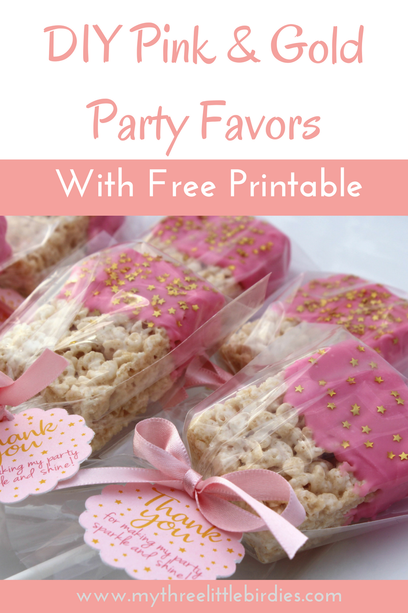 Easy Pink and Gold Party Favors - | Wedding | Favors | Pinterest ...