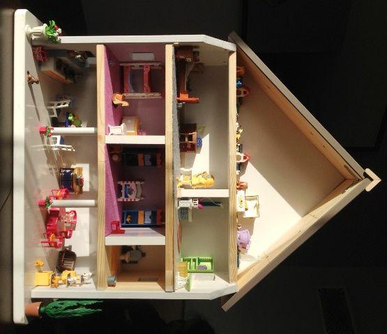 maison playmobil en bois diy avec un chevet basique. Black Bedroom Furniture Sets. Home Design Ideas