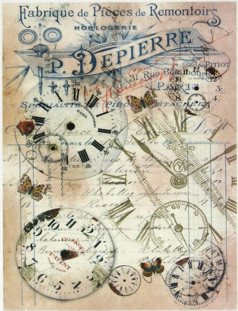 Ricepaper / Decoupage paper, Scrapbooking Sheets Montres