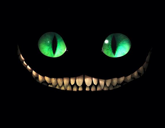 Smile Sweatshirt schwarz Alice im Wunderland Grinsekatze