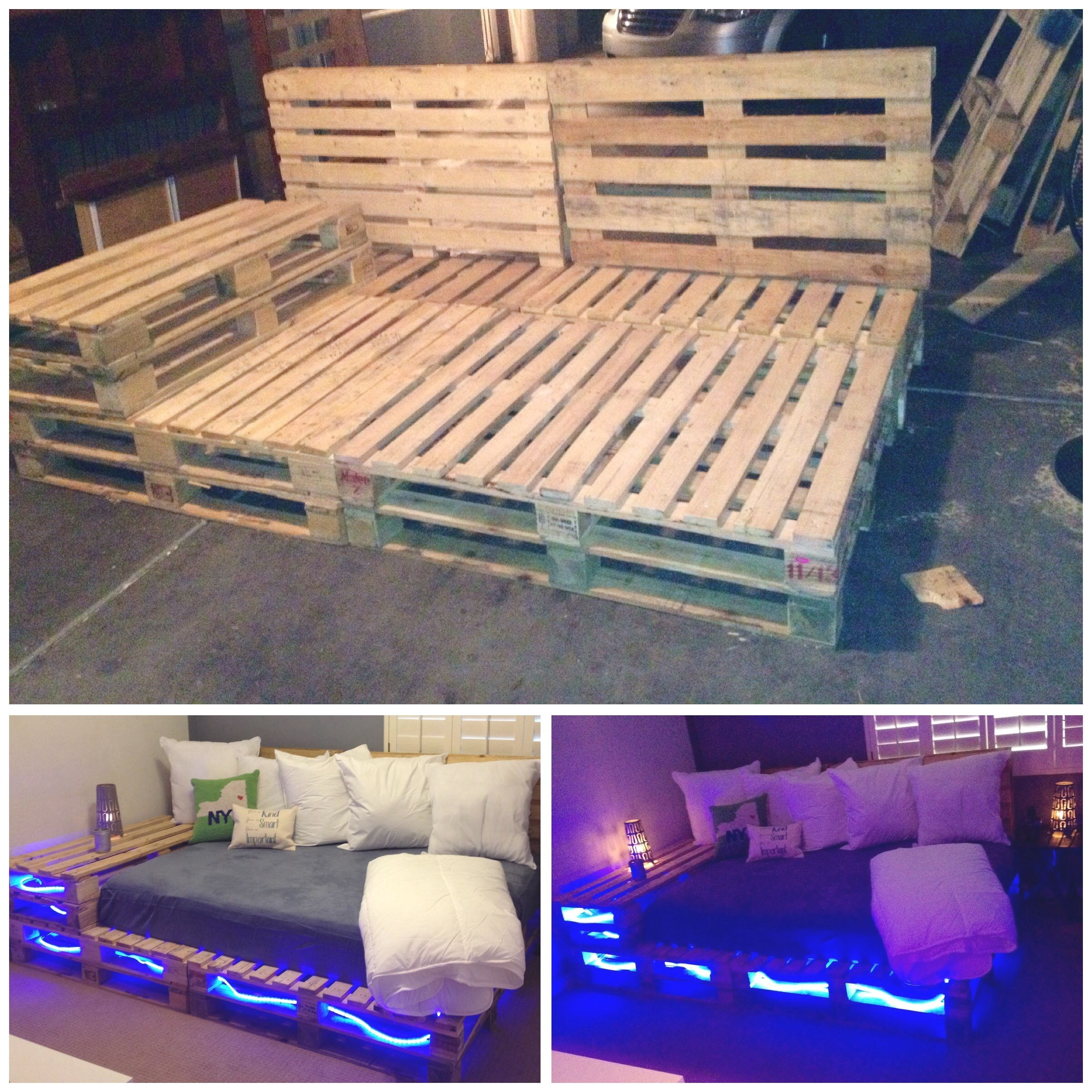 New Addition To My Home Pallet Full Size Bed Bedroom Diy