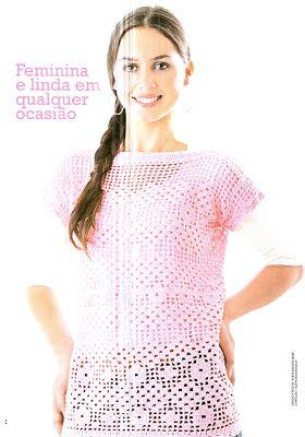 *♥*´¯`* Casinha de Croché *´¯`*♥*: blusa