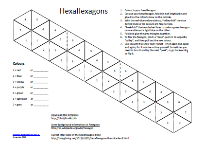 Hexaflexagon  A Fun Way To Take Notes Or For A Cool Notecard