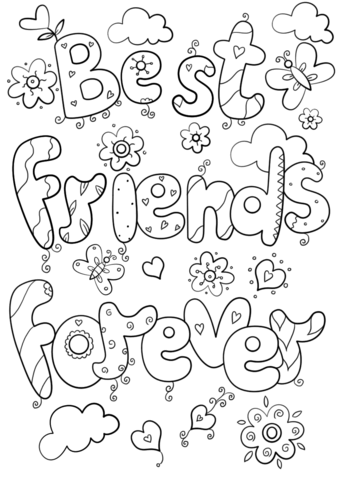 Best Friends Forever Coloring Page From Valentine S Day Cards Category Select From 29062 Prin Coloring Pages Free Printable Coloring Pages Free Coloring Pages