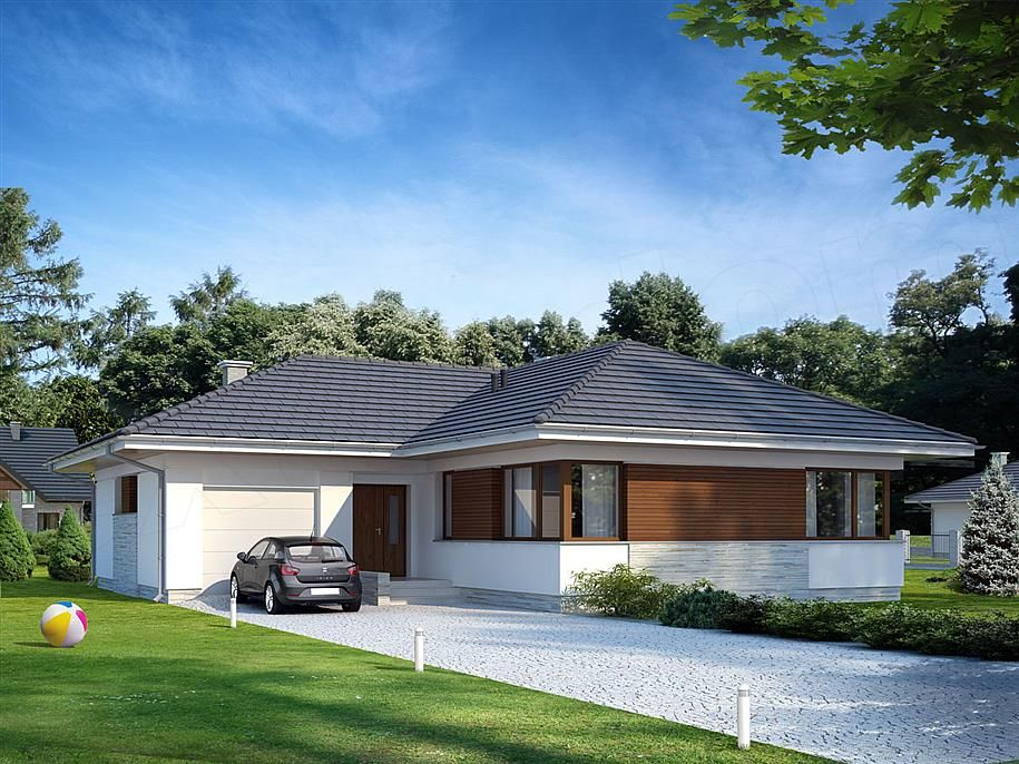 Zdjęcie projektu Driada BSE1004 domy pekne Pinterest - plan maison terrain pente
