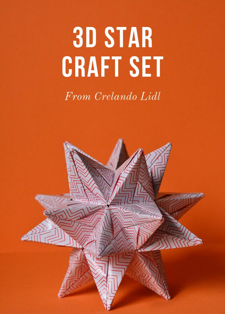 Photo of 3D Star Craft Set From Crelando Lidl
