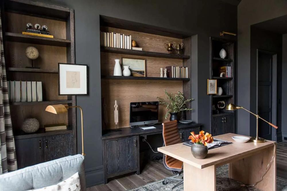 Home Office Background Ideas To Always Be Zoom Ready Decorilla Online Interior Design In 2021 Office Interior Design Interior Office Interiors
