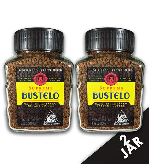 Cafe Bustelo Supreme Instant Decaffeinated Freeze Dried Jar 3 5 Oz 2 Pack