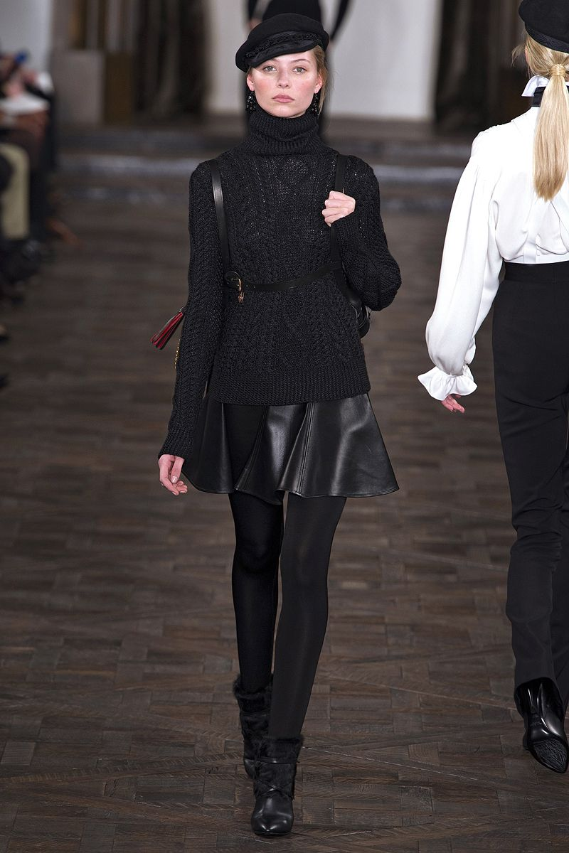 Short flared skirt at  Ralph Lauren Fall 2013 RTW  runway ... 517737a6098c