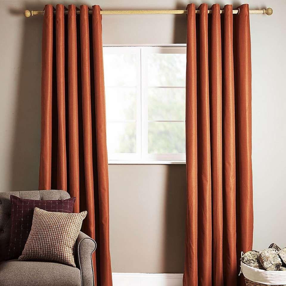 Ottawa Rust Thermal Eyelet Curtains