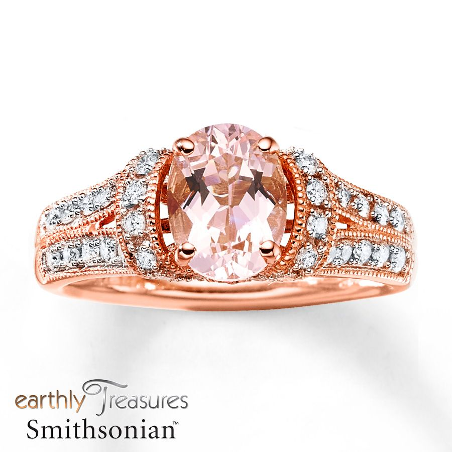 Morganite Ring 38 ct tw Diamonds 14K Rose Gold Found THE ring Im