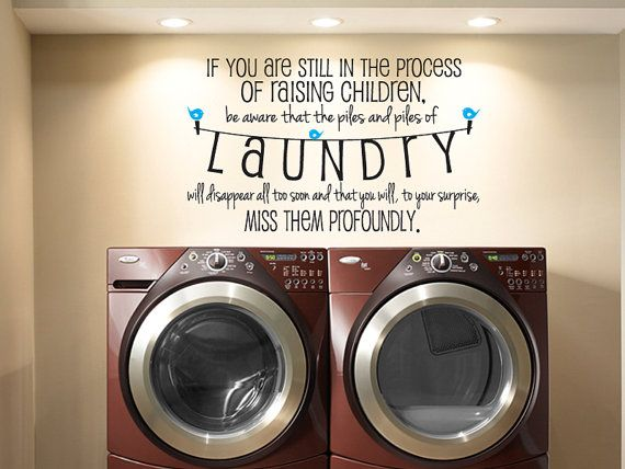 Laundry Piles Laundry Room Vinyl Wall Decal Quote Part 51