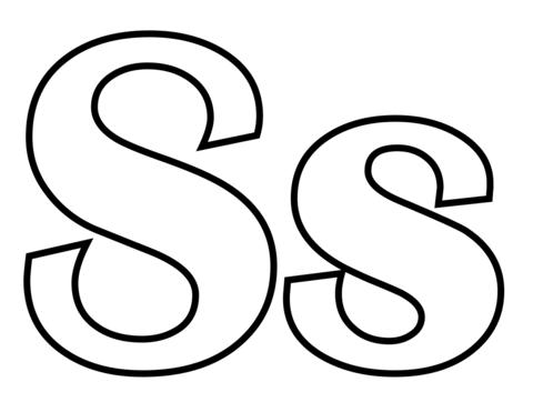 Letra S Dibujos Para Colorear Dibujos Para Pintar Dibujos Para