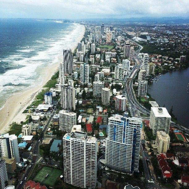 Gold Coast Brisbane Se Qld Nsw: Gold Coast Is A Tourist Spot In South-East Queensland