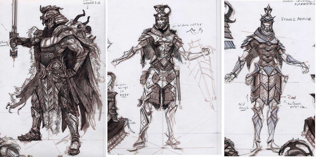 Skyrim Character Design Ideas : Imperialarmor skyrim concept art and