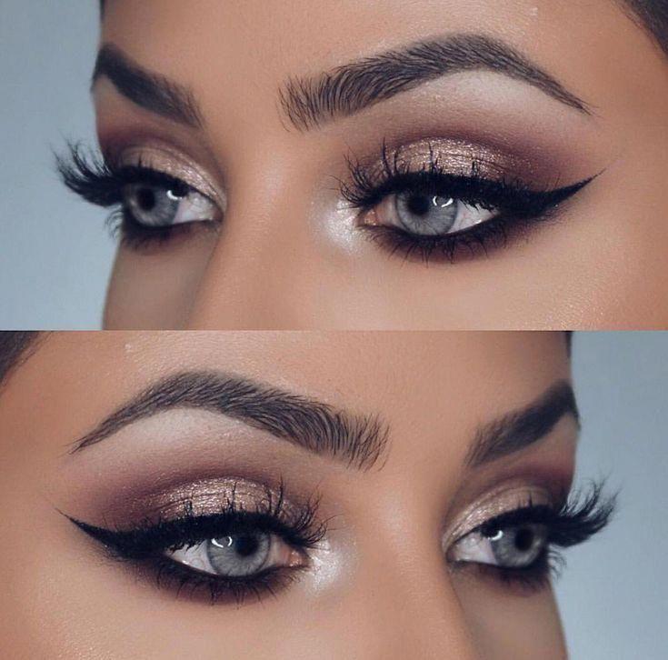 Schöner Winged Eyeliner  Willkommen in meinem BLUE EYES Makeup Inspiration Board Hier finden Sie MakeupIdeen für  Schöner Winged Eyeliner  Willkommen in me...