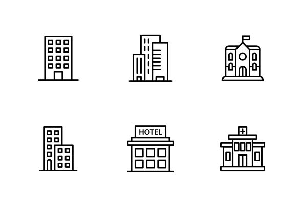 City Icons For Offscreen Magazine 5 City Icon Pictogram Icon
