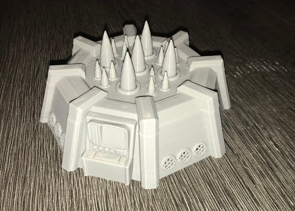 Warhammer 40K - missile base by SnowMan77 - Thingiverse | Things to