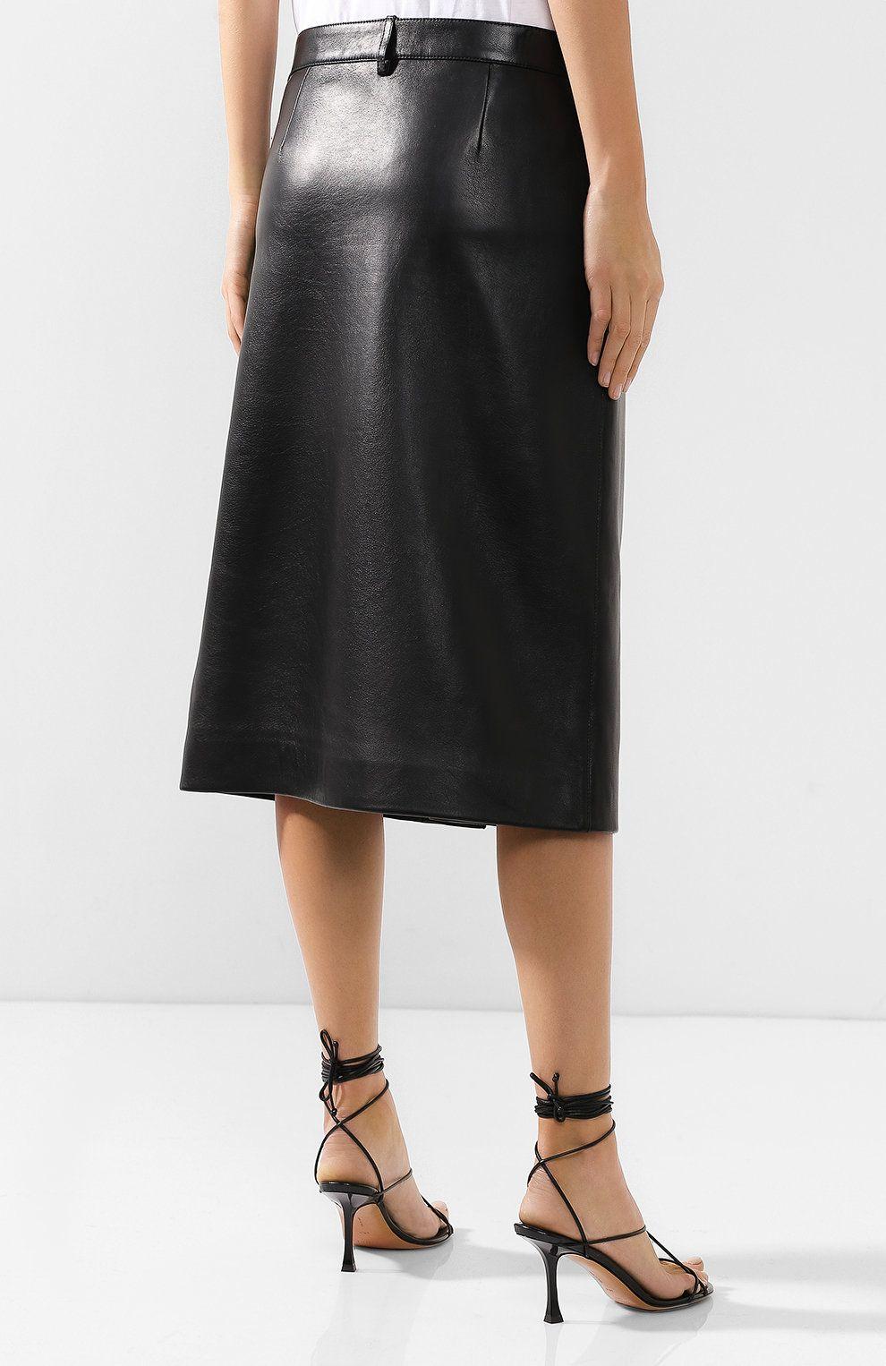 покажите женские кожаные юбки