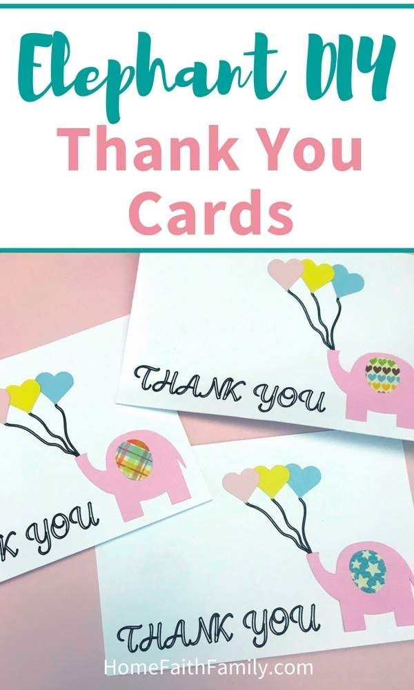 Download Elephant DIY Thank You Cards   Thank you cards, Diy crafts ...