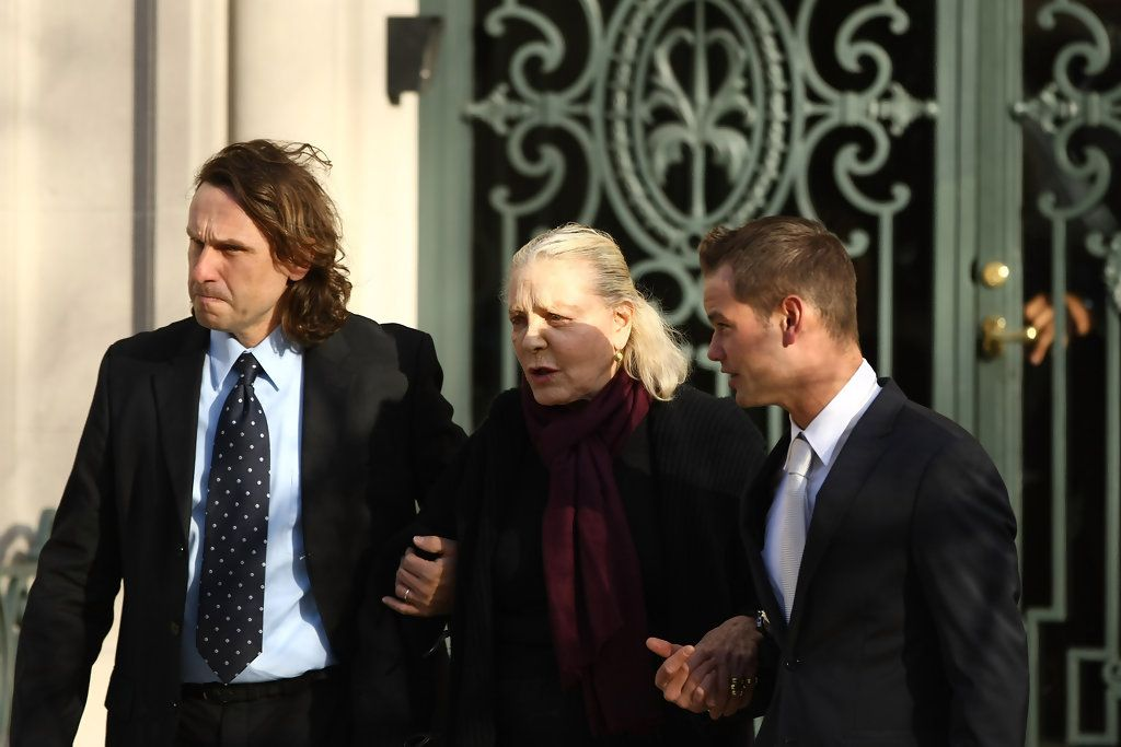 Actress Lauren Bacall is seen leaving the wake of actress Natasha Richardson at the American Irish Historical Society March 20, 2009 in New York City. Richardson died at Lenox Hill Hospital on March 18 in New York City after suffering a ski injury at the Mont Tremblant resort in Montreal.  (Photo by Neilson Barnard/Getty Images) *** Local Caption *** Lauren Bacall