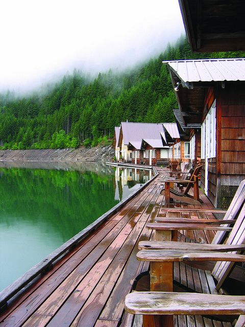Floating Cabins, Ross Lake, Northern Cascades, WA