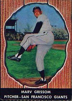 1958 Hires Root Beer 64 Marv Grissom Front 1958 Baseball