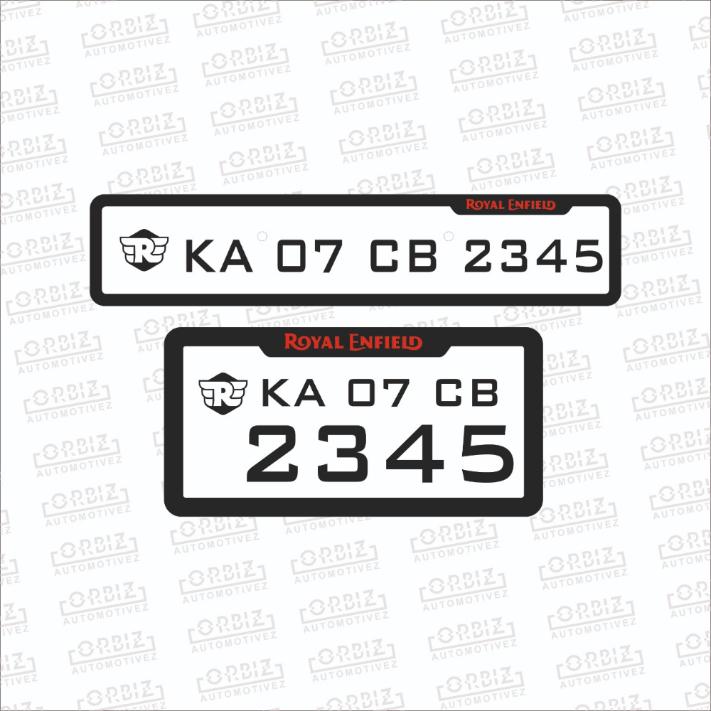 Royal Enfield Bike Number Plate Designs Number Plate Design