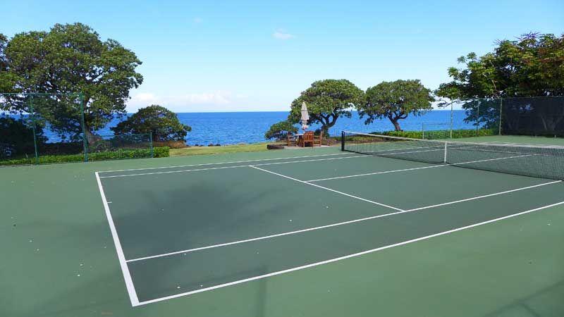 Tennis Court At Mauna Kea Beach Hotel Tennis Court Mauna Kea Beach Hotel Beach Hotels
