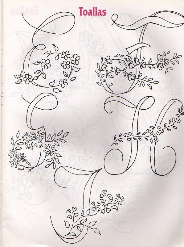 Moldes Para Artesanato em Tecido: Alfabetos para Bordar e Pintar ...