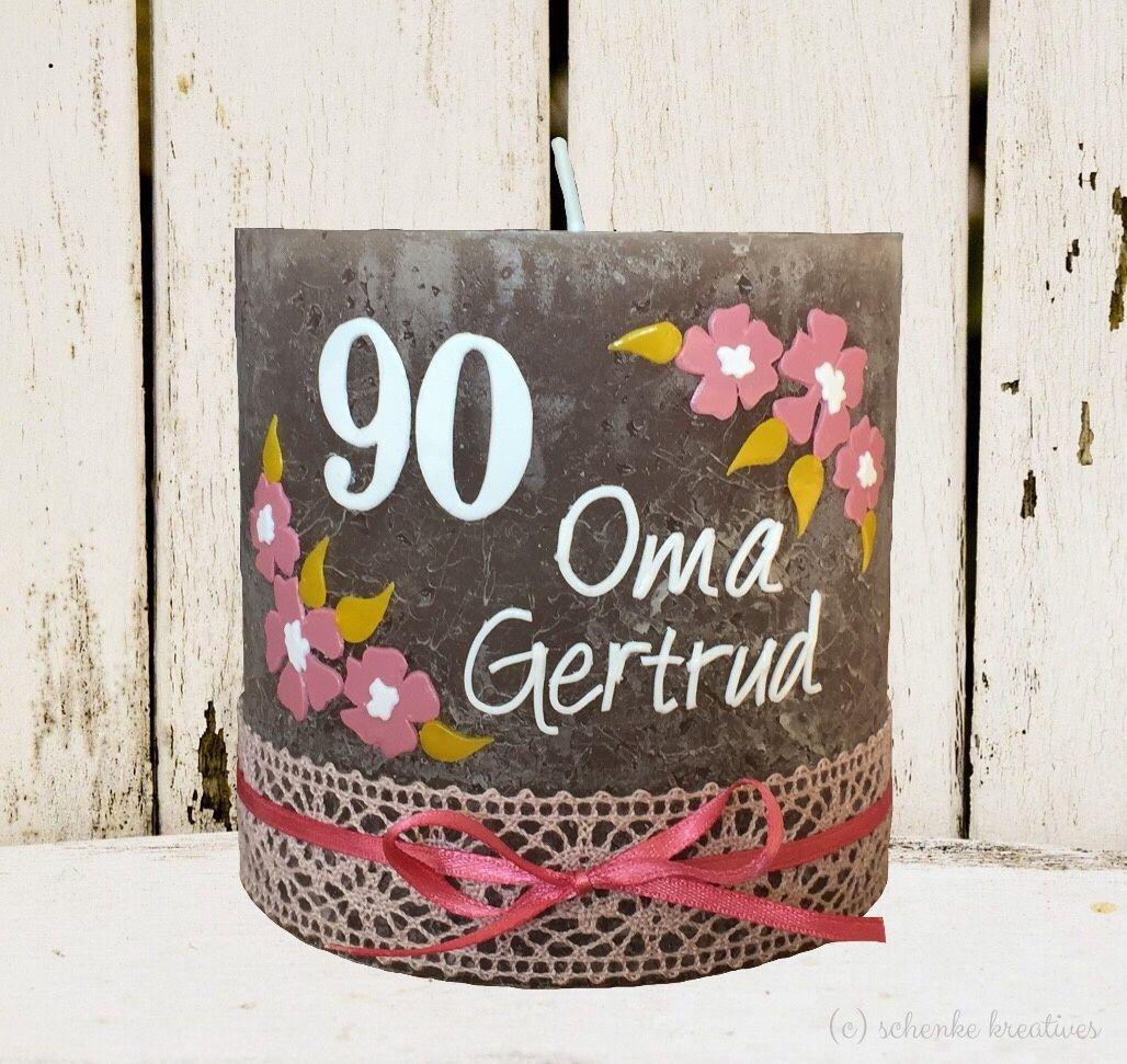 Geburtstag 90 Geburtstag Geburtstagskerze Individuell Unikat