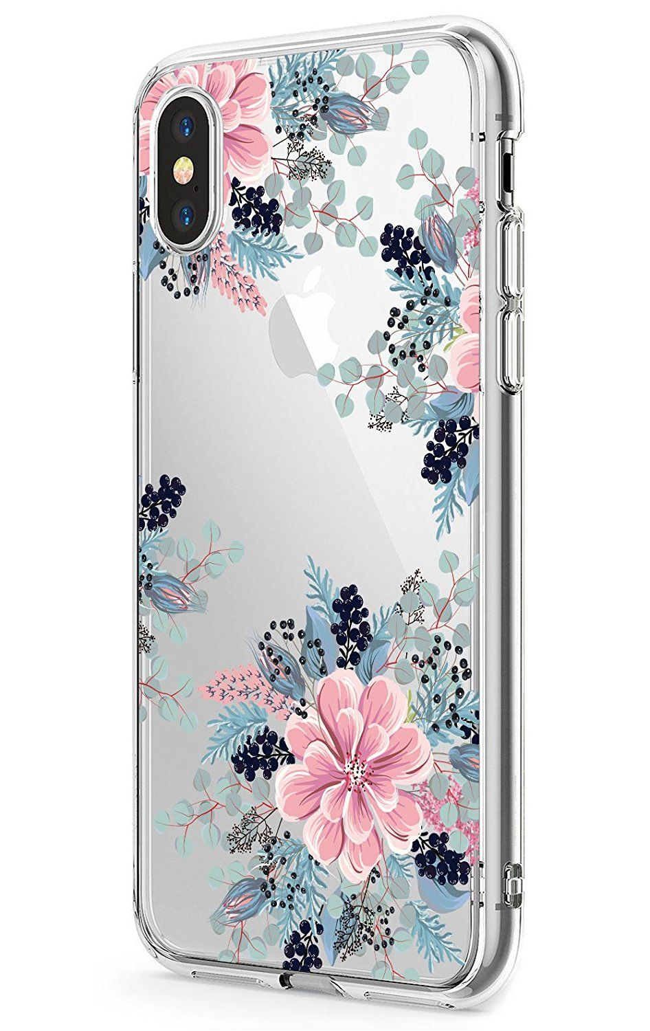 Iphone X Case Jaholan Girls Floral Design Clear Tpu Soft Slim Flexible Silicone Glossy Phone Case For Apple Iphone X Girly Phone Cases Iphone Apple Phone Case