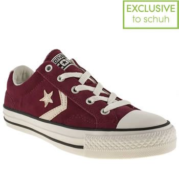 Womens Converse Suede Burgundy Burgundy Star Player Ox Ii Trainers Sole Vulcanised Sole Unit