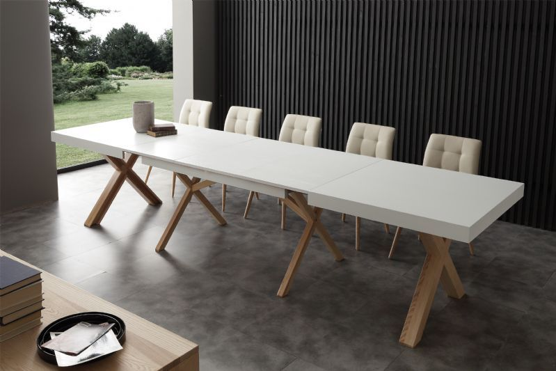 tavolo leonardo 708 tavoli moderni allungabili - tavoli | un amore ... - Tavolo Allungabile Design Moderno
