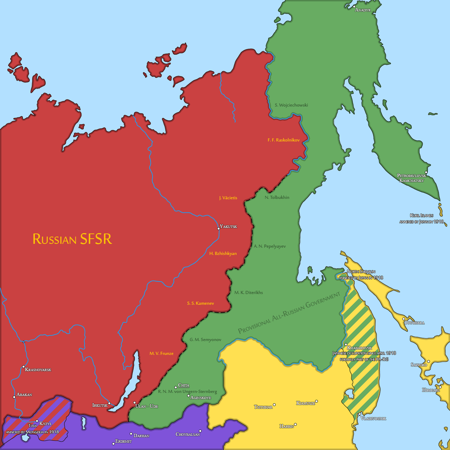 Eastern Front of the Russian Civil War (1921) by Sevgart | Fantasy on