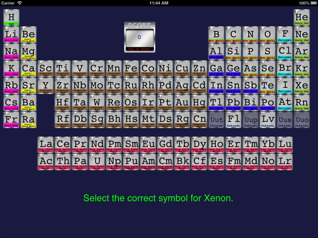 Periodic Table Quiz Yourself Ios Ipad Ideal For Students Just