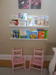 bookshelves using ikea picture ledges