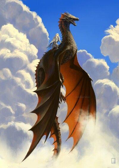上に昇っていくドラゴンの壁紙