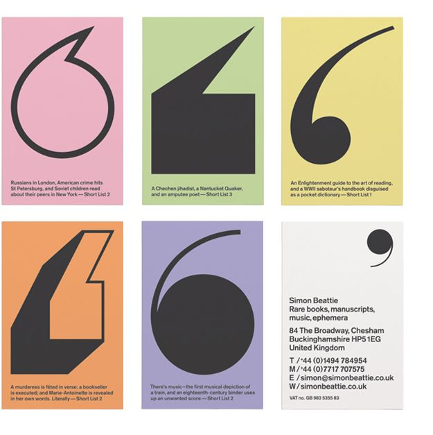 Business cards for bookseller simon beattie by purpose tipography business cards for bookseller simon beattie by purpose reheart Gallery