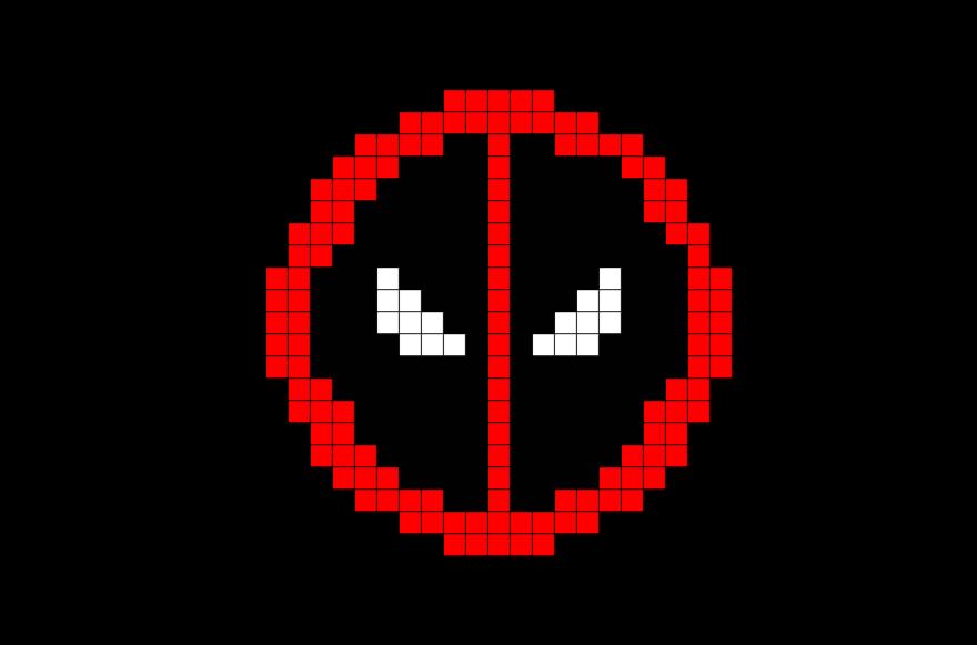 Deadpool Symbol Pixel Art Pixel Art Pixel Art Grid Pixel Art Templates