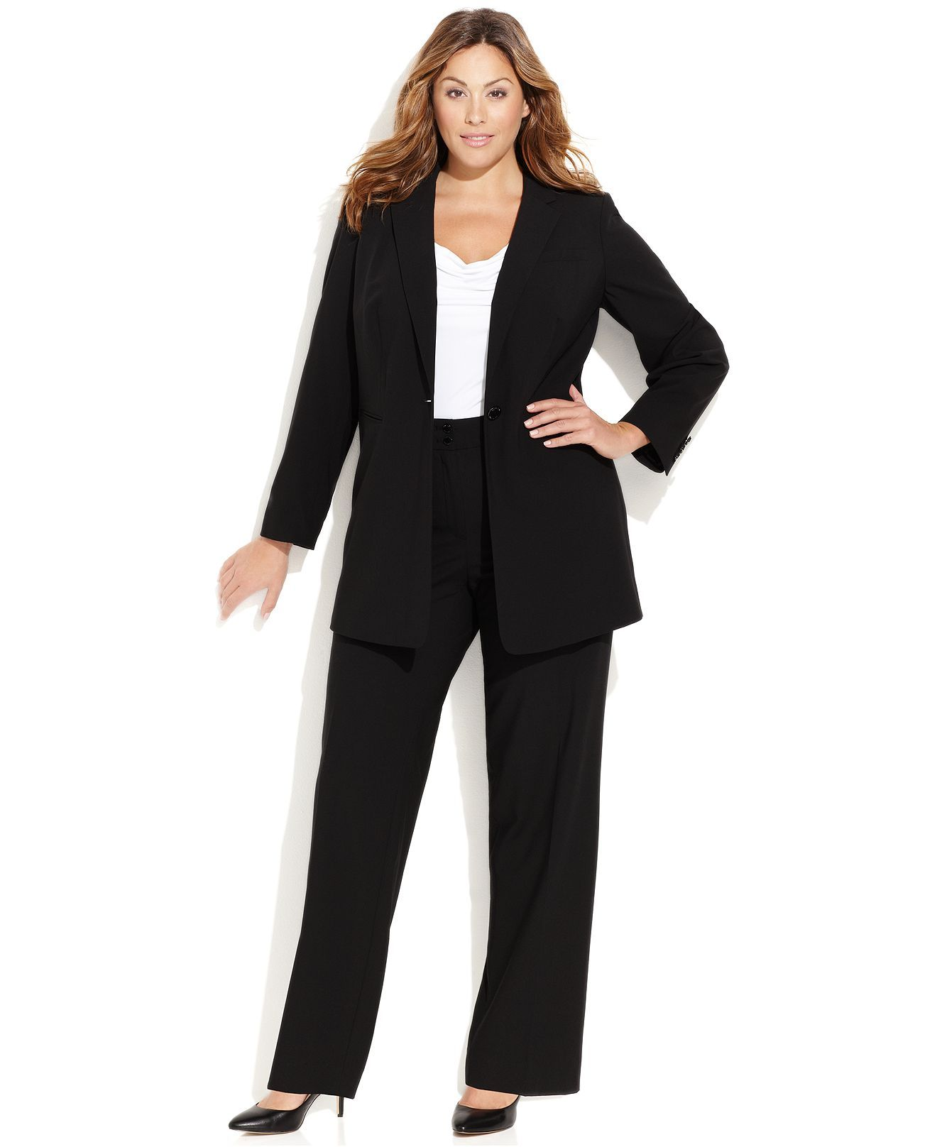 a4fb04e75fe Calvin Klein Plus Size Suit Separates Collection - Wear to Work - Women -  Macy s
