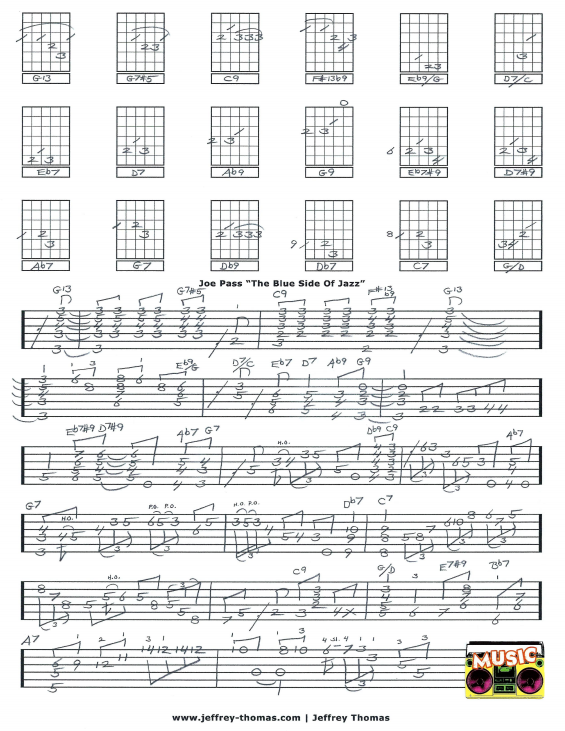 Joe Pass The Blue Side Of Jazz Guitar Tab by Jeffrey Thomas. Jazz ...