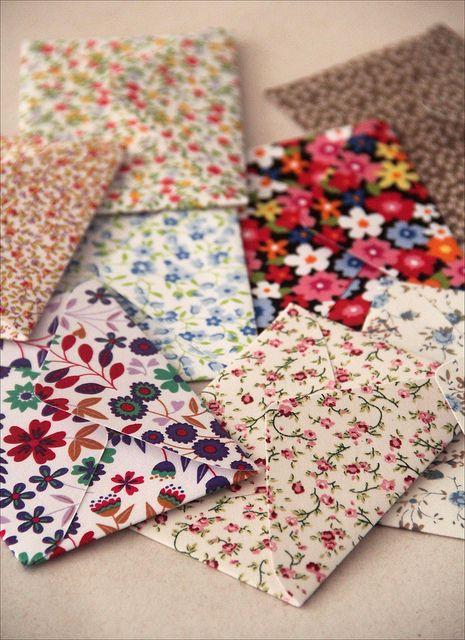 Envelopes em tecido
