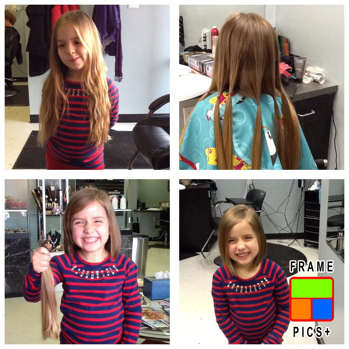 My Sweet Elle Donated 12 Inches Of Hair To Locks Of Love