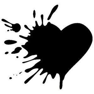 Splattered Heart Broken Heart Drawings Broken Heart Art Broken Heart Tattoo