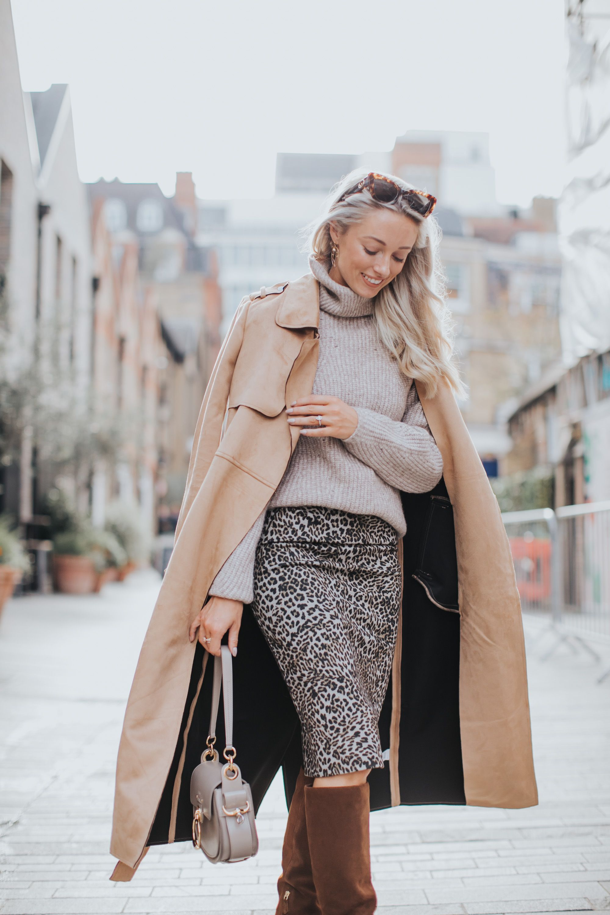 Coat  River Island  Skirt  River Island  Bag  Chloé  Jumper  River Island  Boots  LK Bennett similar but more affordable This time of year always presents a little...