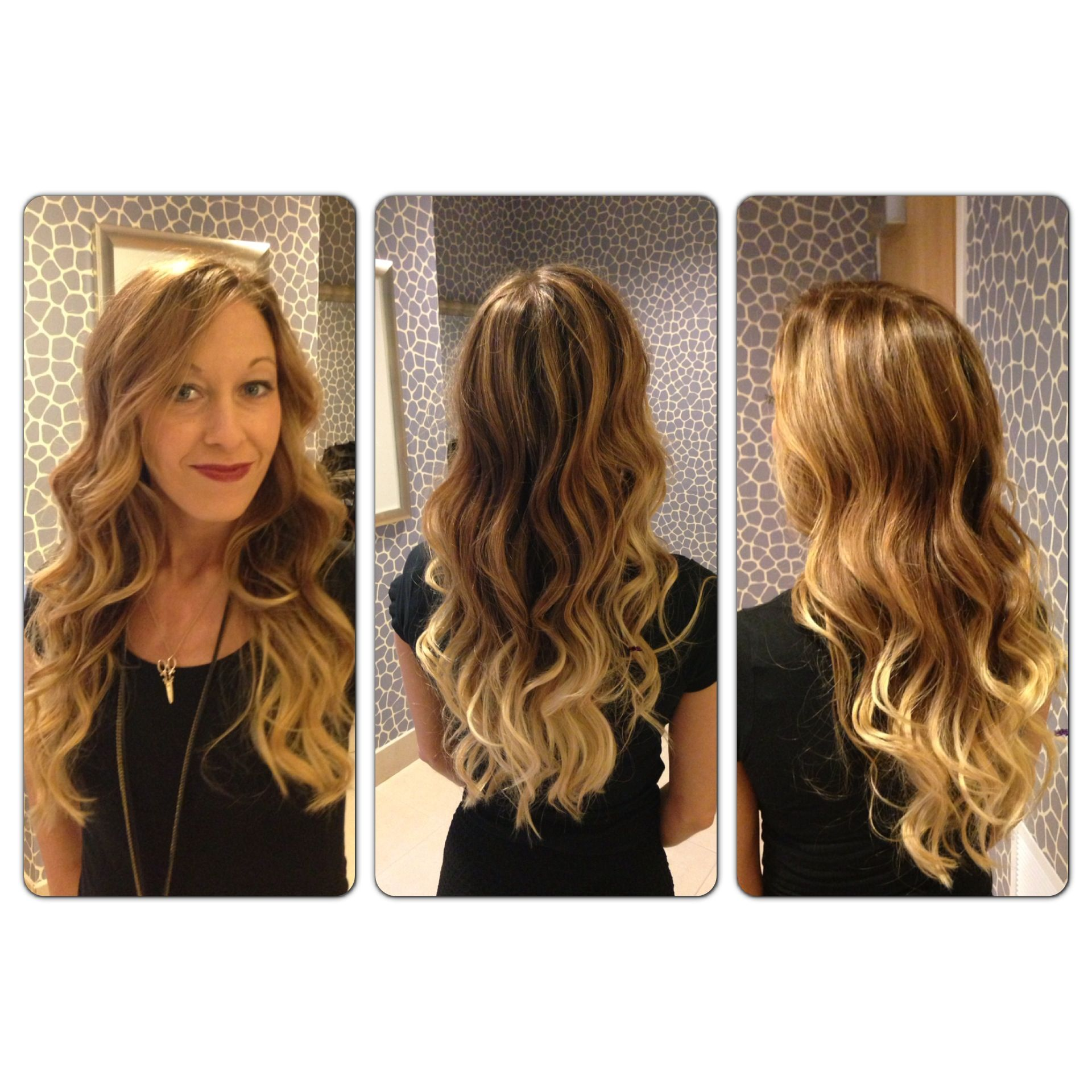 Balayage ombré highlights L Oreal colorist Corene Hess at Capello